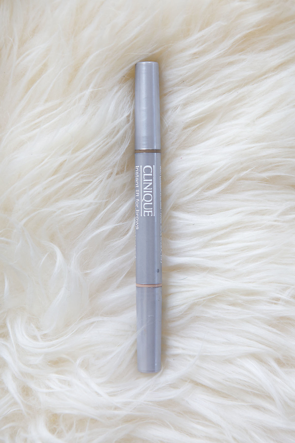 I'm a believer that your brows completely transform your face, and I'm the biggest proponent of thick brows. Unfortunately, mother nature hasn't given me those... So I turn to Clinique's Instant Lift For Brows. It's a great middle ground between a pencil and a crayon and fills in your brows naturally and beautifully. It also has a highlighter on the opposite end which I use on my brow bone and my cheek bones... Because who doesn't want an instant brow and face lift!? Find it  HERE  (for reference, my color is 01 Soft Blonde)