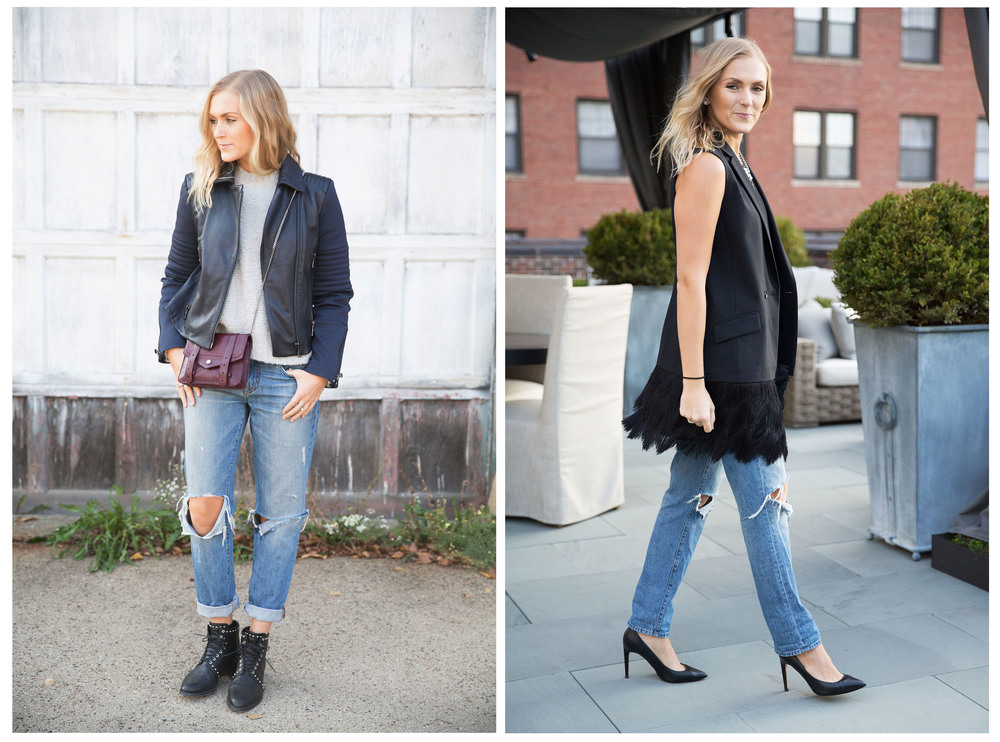 Boyfriend Jeans From Day to Night — Those White Walls