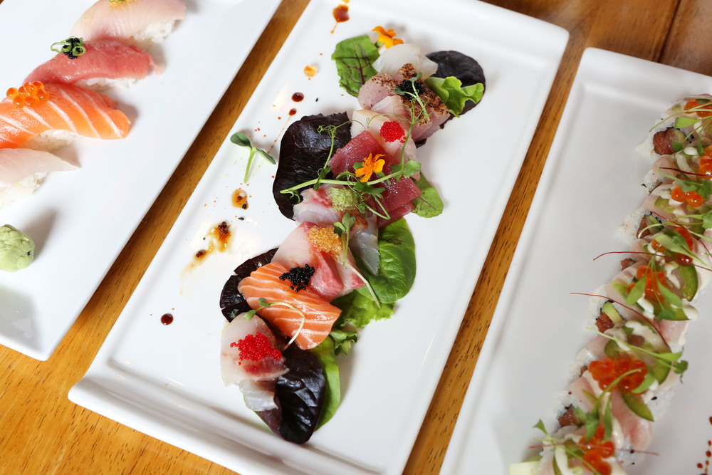 The sashimi is out of this world (as is everything else)!