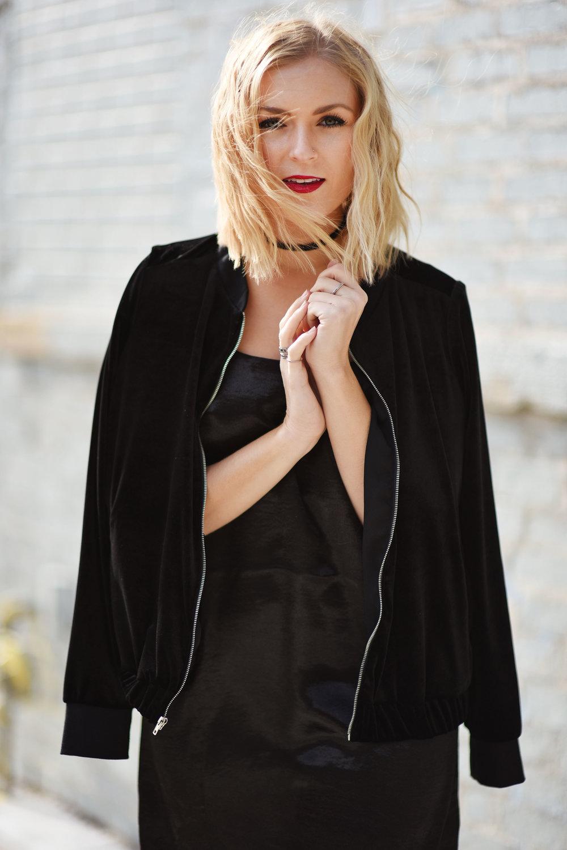 velvet-bomber-jacket-over-slip-dress