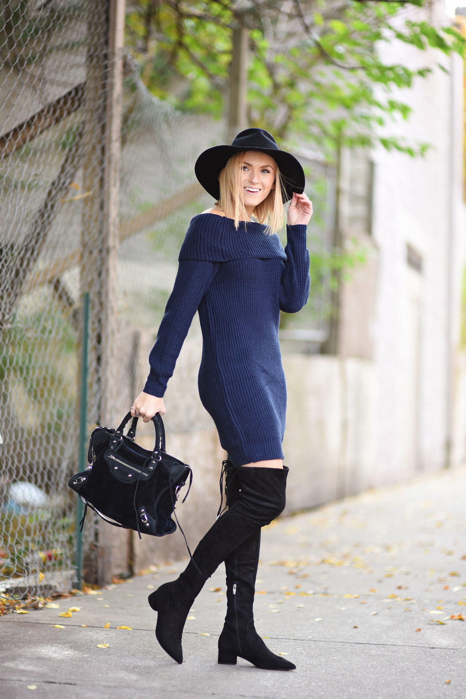 Favorite Combo  Sweater Dress + Over The Knee Boots — Those ... bb19f0d29