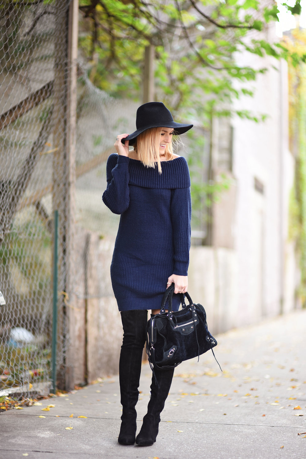 sweater-dress-with-hat