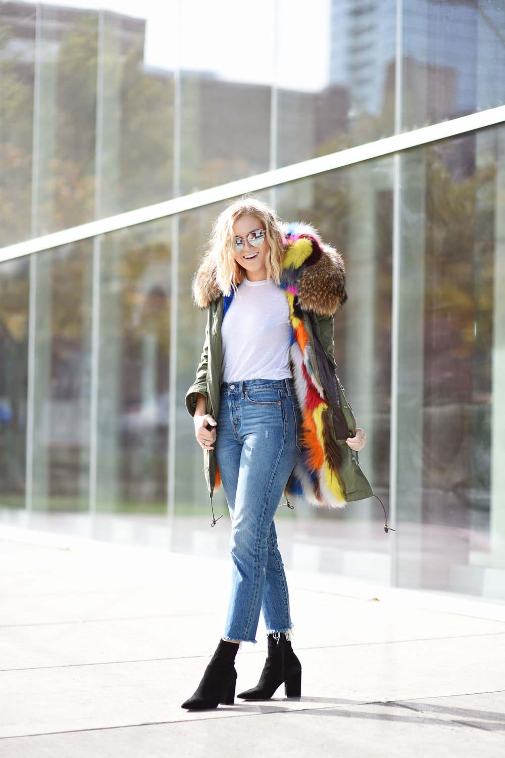 multi-colored-fur-jacket-with-jeans