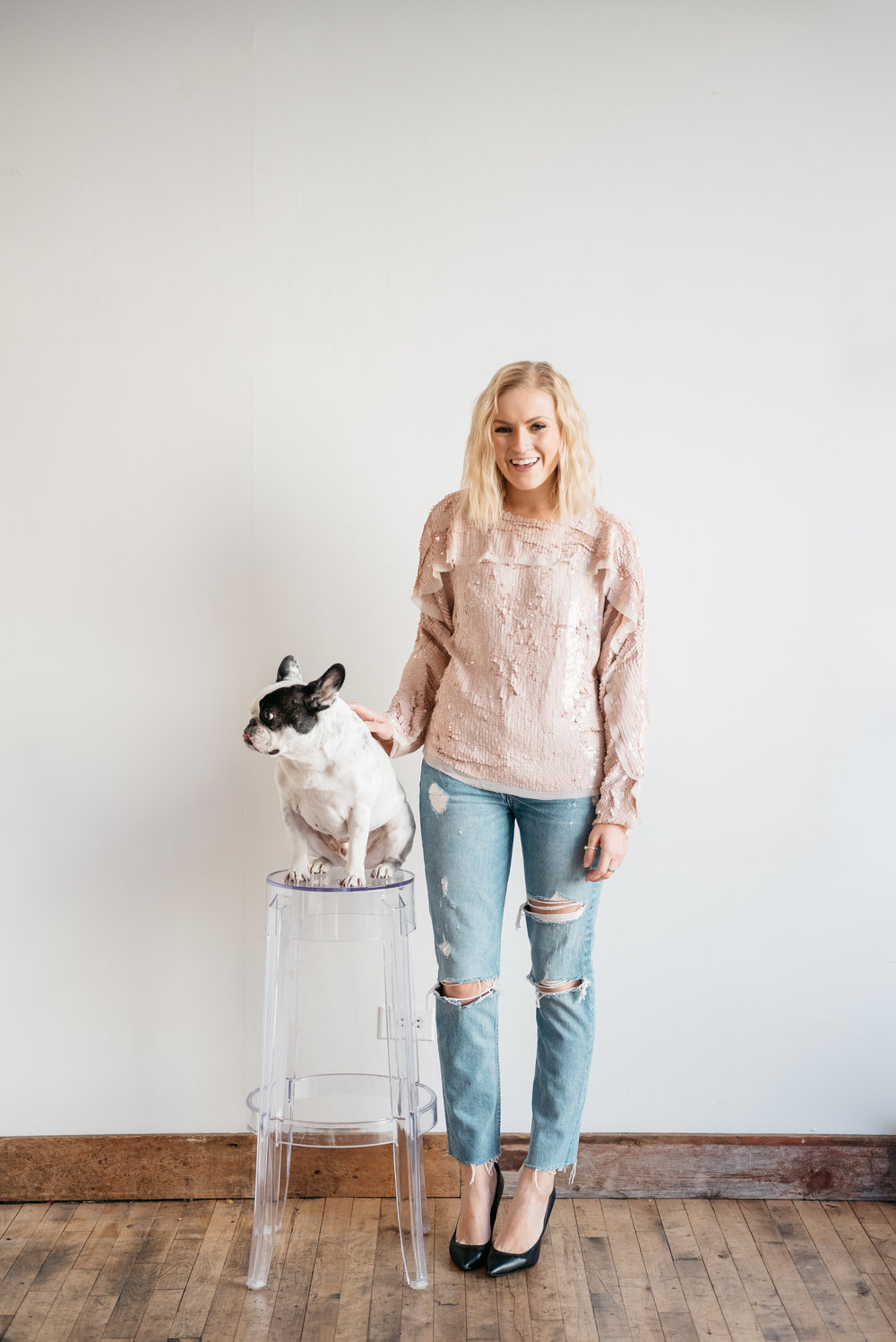 french-bulldog-with-girl