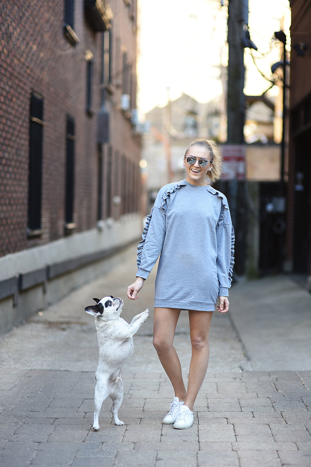french-bulldog-and-girl