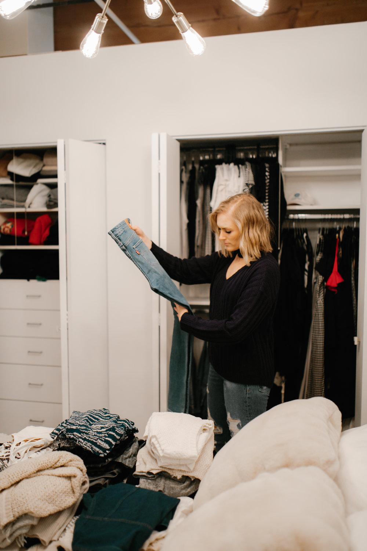 closet cleanout donation