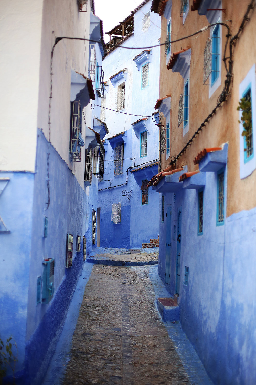 streets Chefchaouen morocco the blue city
