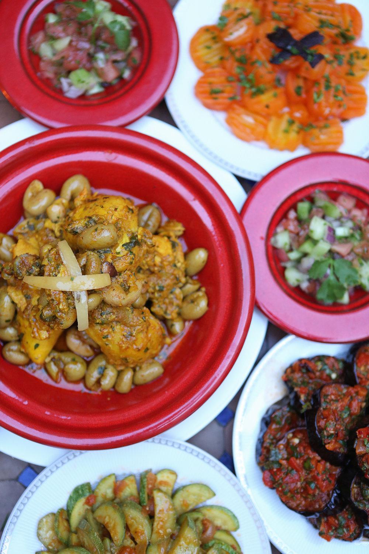moroccan food tagine salad bread