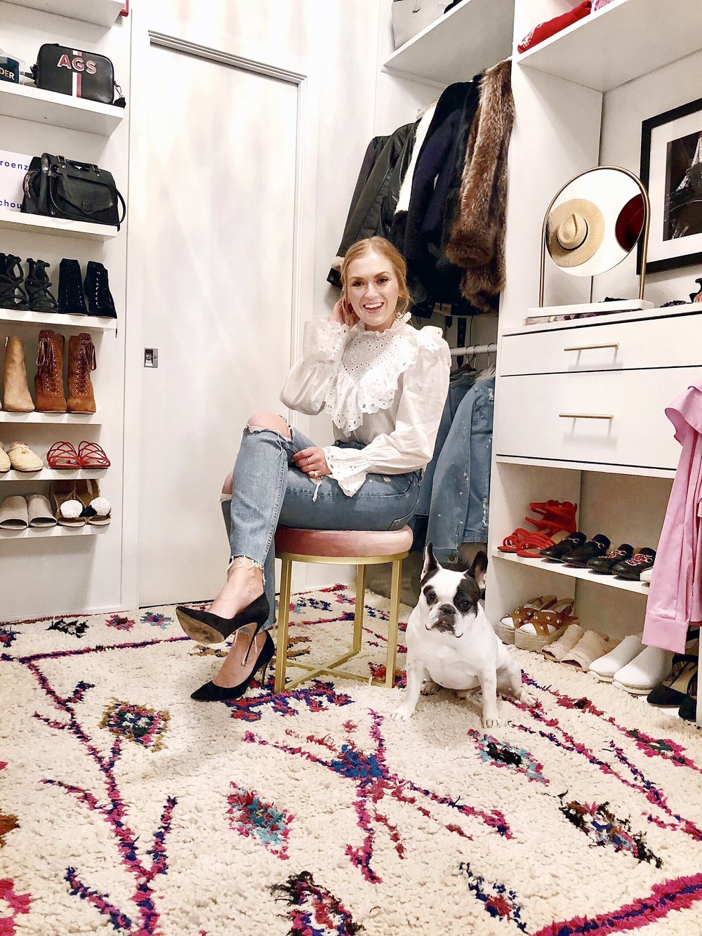 ali stone those white walls closet
