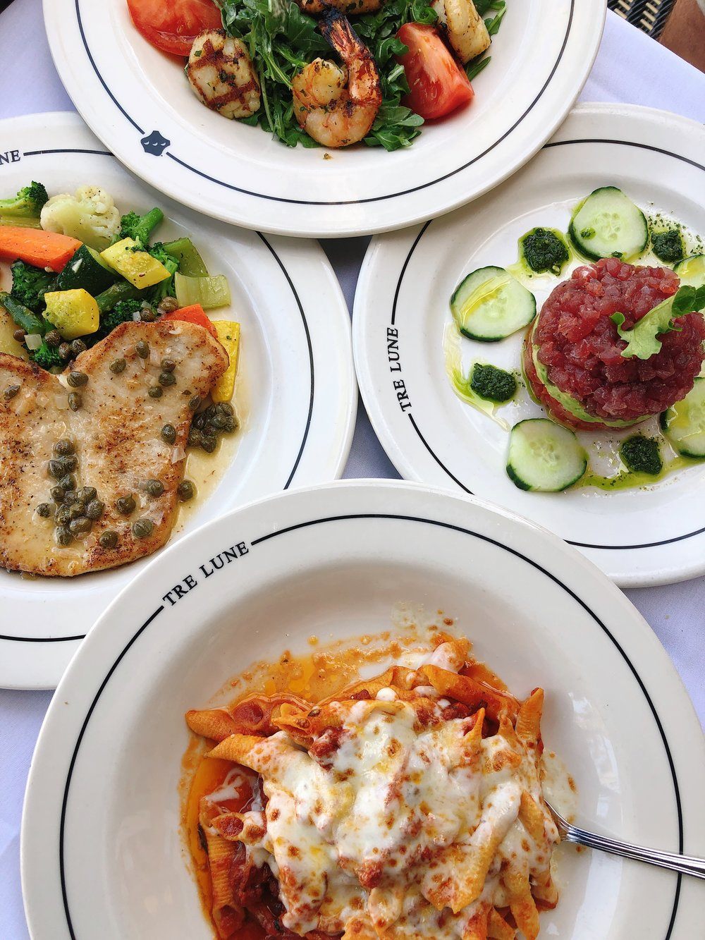 italian food tre lune montecito california