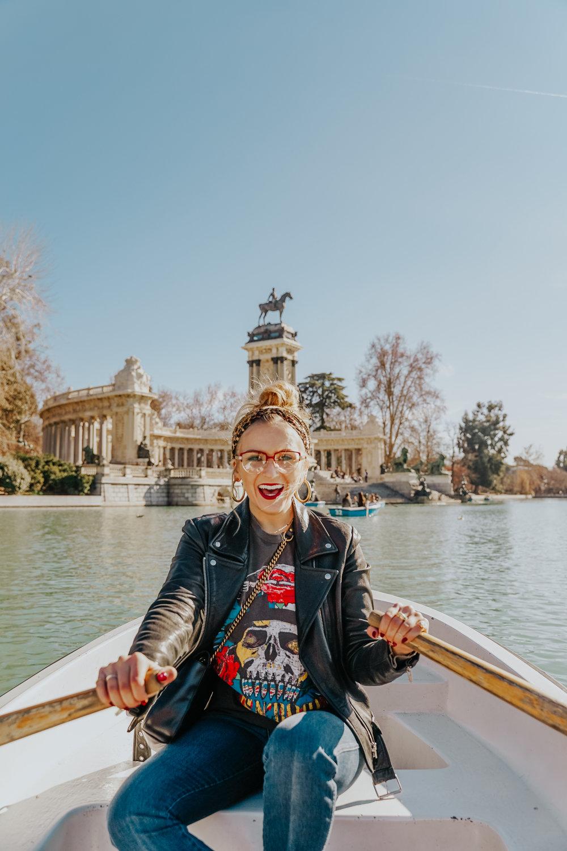 Boat in Buen Retiro Park Madrid Travel Guide