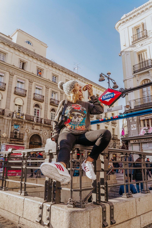 Outside La Mallorquina in Puerta Del Sol