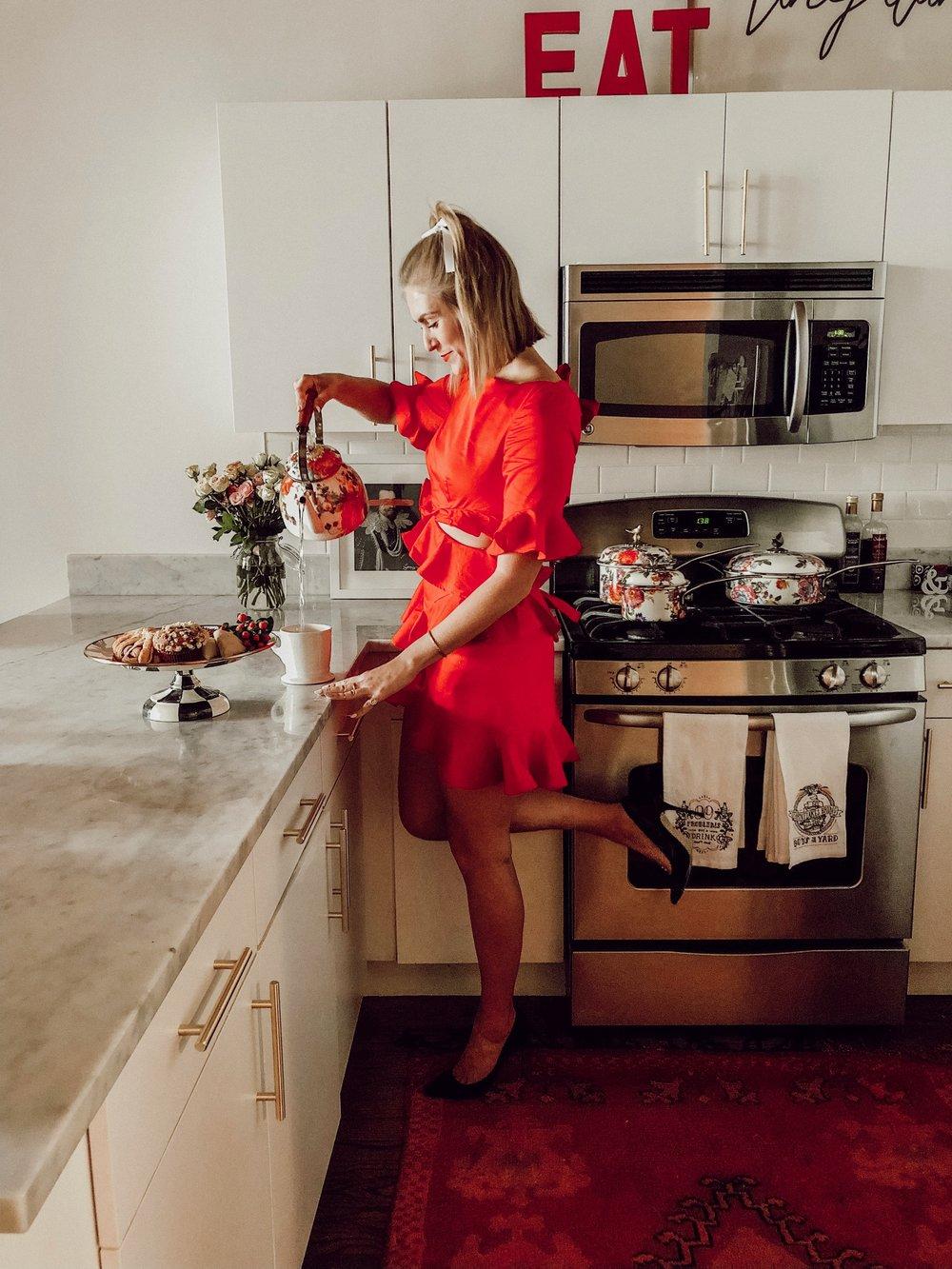Pictured in my home:  Mackenzie Childs kitchenware