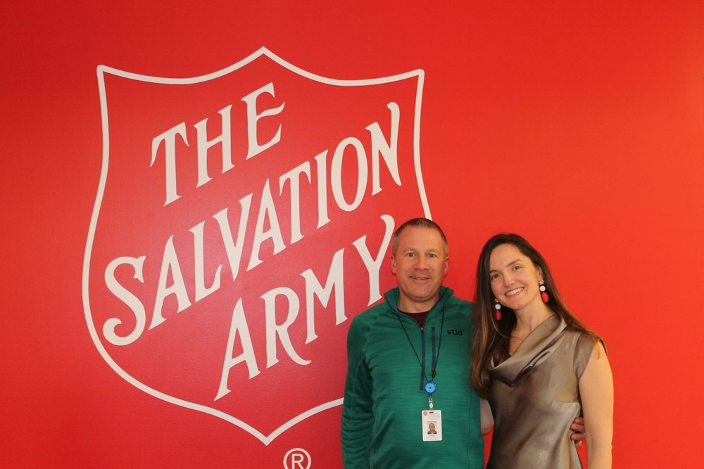 Marcia and Eric Peiffer led a team of 60 volunteers for the Cleveland Salvation Army Christmas 'fight for good' . The 'fight for good' included visits and photos with Santa and elf. beading bracelets tables, frosting cookies area, hair beauticians providing cuts, curls, and coloring, massage therapists offering stress release, Kenson choir singing songs and carol, along with delicious wraps and deserts.