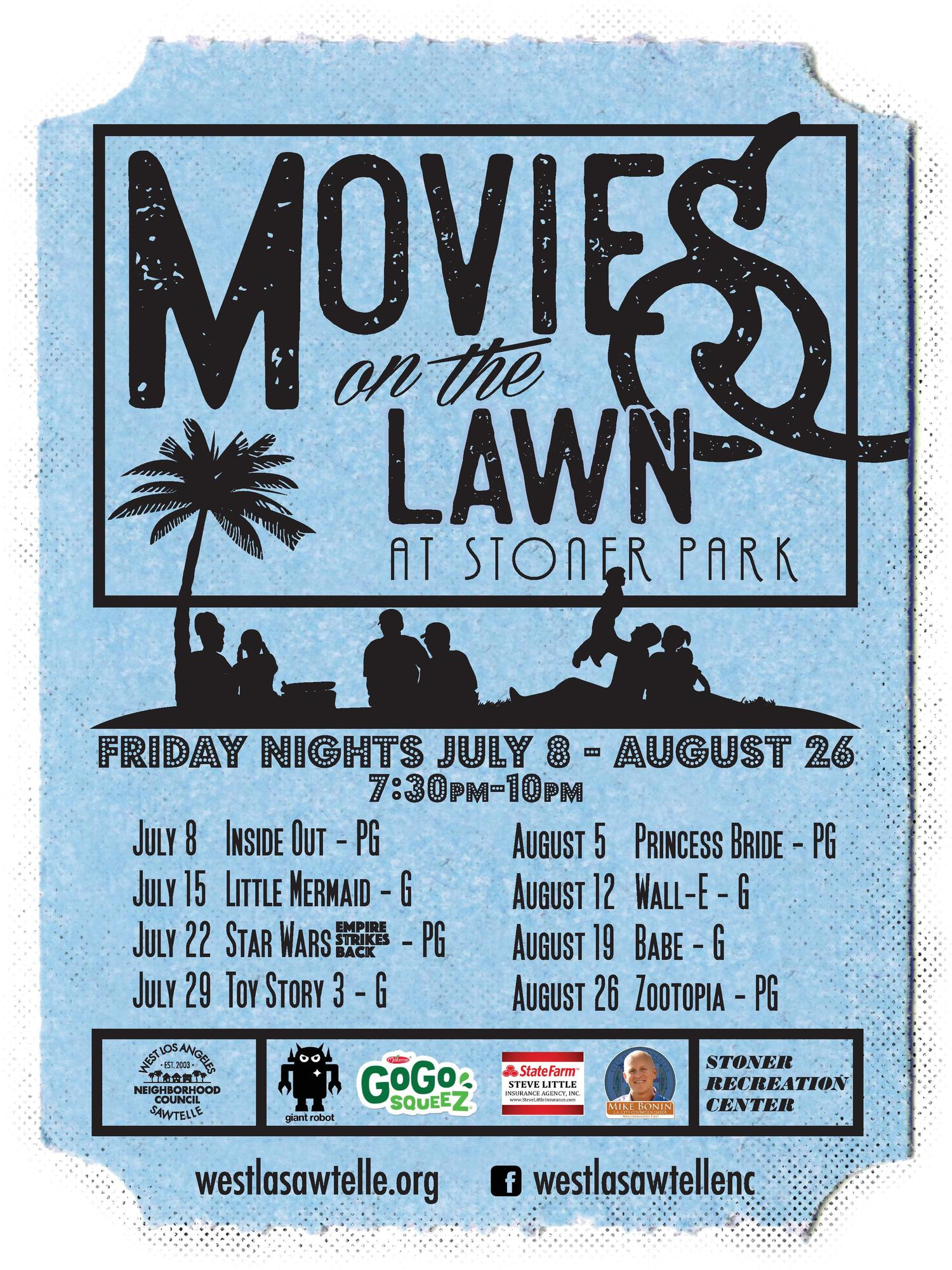8th Annual Summer Movies on the Lawn — WLASNC