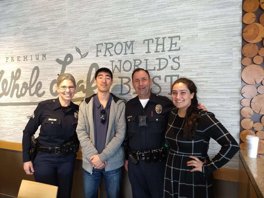 Left to Right: Senior Lead Officer Maria Gray, Steven K, Senior Lead Officer Jimmy Lavenson, Nina S