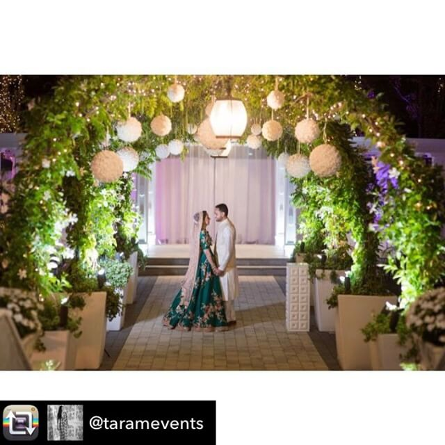 Repost from @taramevents - Farah & Hamid's New York Sangeet. A magical night to remember.