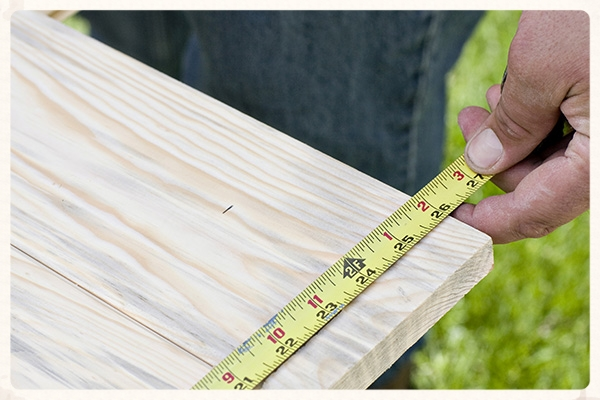 It is important that the completed panels measure to their specified widths.