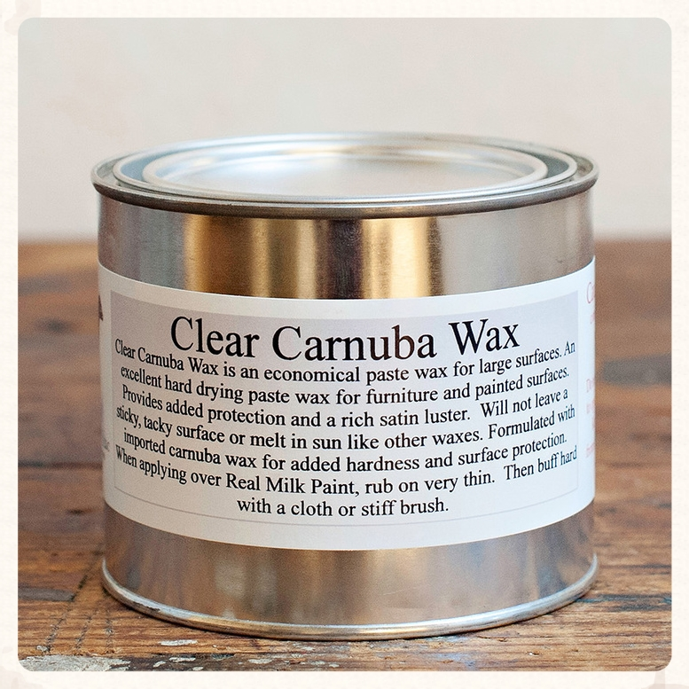 Clear Carnuba Wax is easy to use and durable.