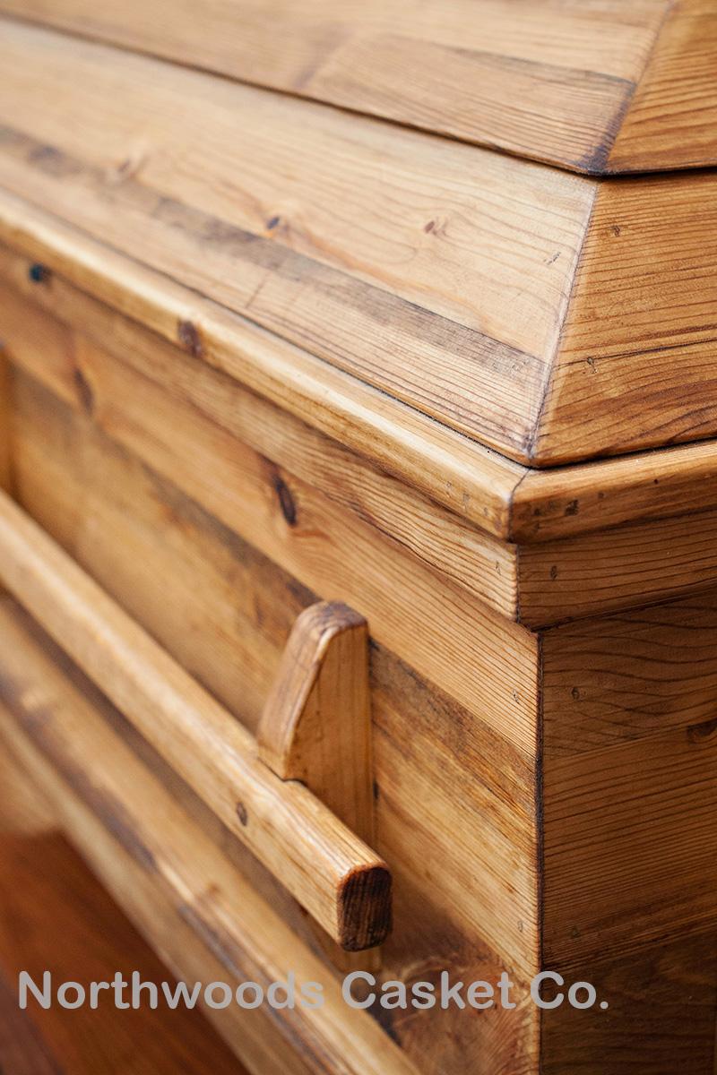 American Heritage Pine casket in Olde Wood.