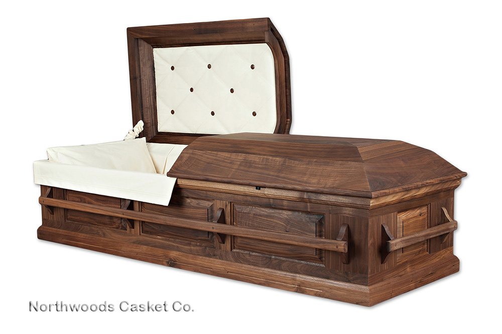 Prepare to spend 80 hours building your first contemporary hardwood casket.