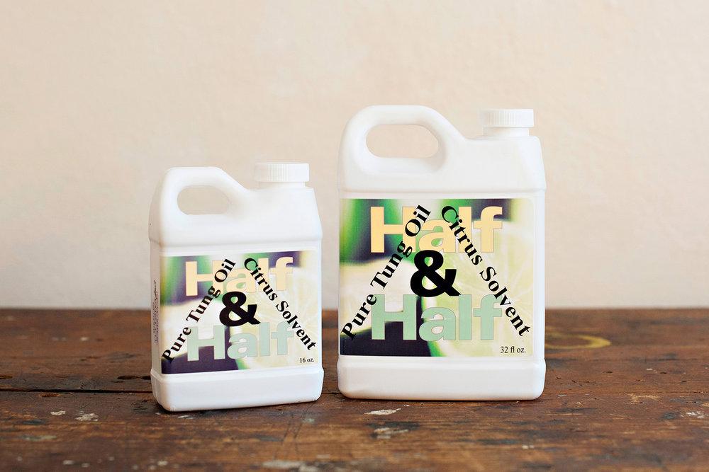 Half & Half - Pure Tung Oil + Citrus Solvent