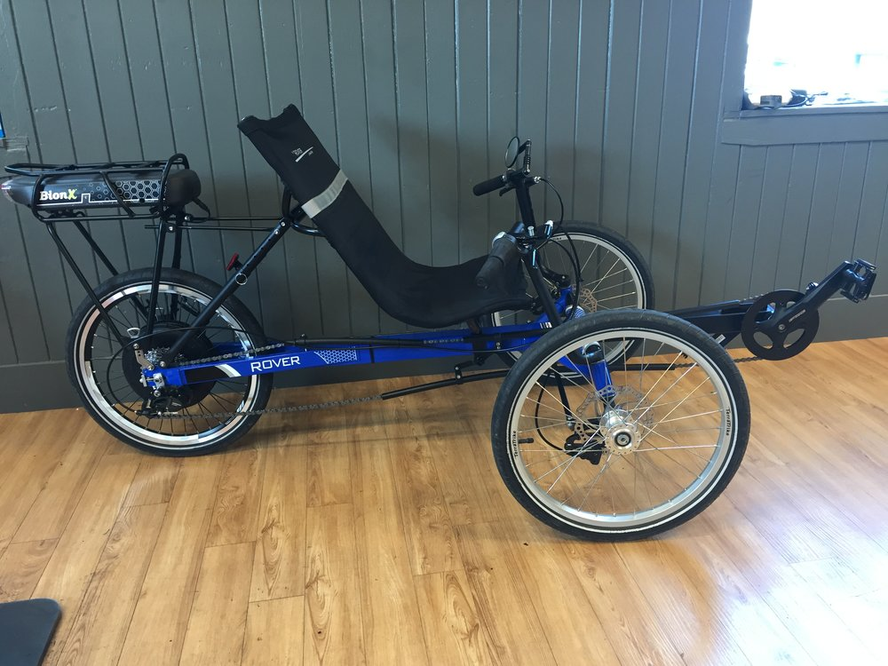 TerraTrike Rover x8 + BionX e-bike System | Blue | Rental/Demo - Call