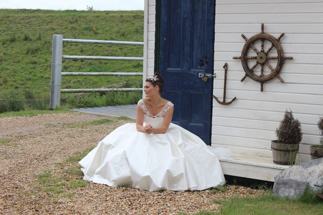 Not bad for a behind the scenes shot of our Erin gown!