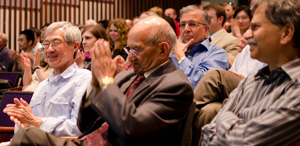 Jagdish S. Rustagi attending the 2012 Chhotey Lal and Mohra Devi Rustagi Memorial Lecture at Ohio State University