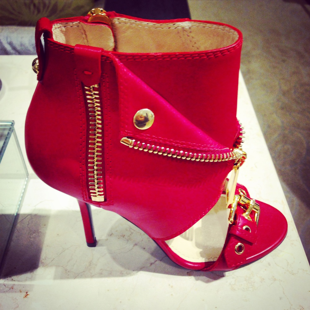 Or...these amazing red Moschino heel booties I found at Bloomingdales as well! TDF!!