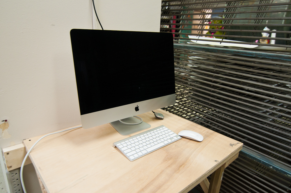 New iMac for preparing and printing artwork and transparencies