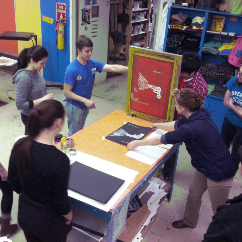 GROUP SCREEN PRINTING WORKSHOPS