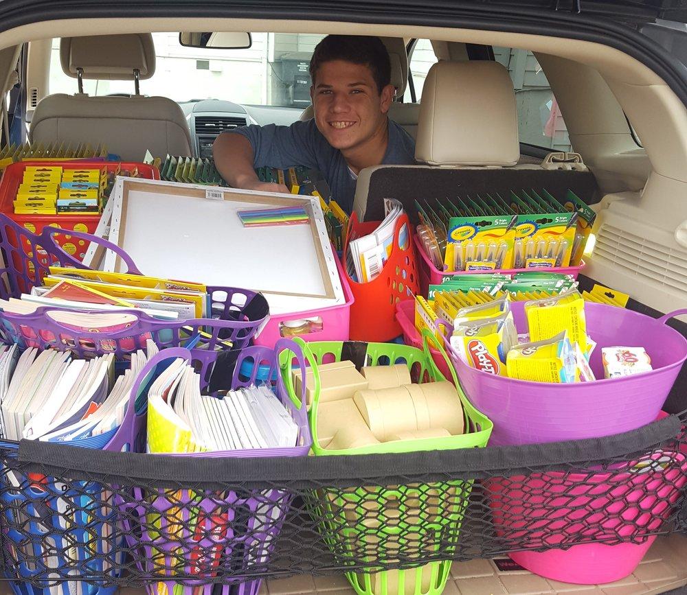 Lorenzi Family's Art Supply Drive