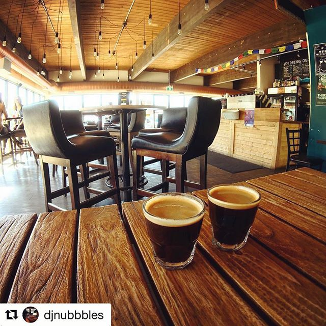 What a great little find in #yegdt @dirtbagcafe . #yeg #yegcoffee  Repost @djnubbbles ・・・ Love this place!!!