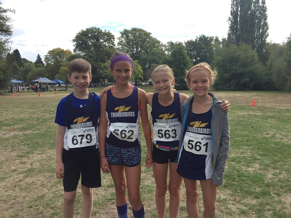 Thunderbird Athletes Griffin Cole, Gabriella Barton, Ruby Forsyth, and Kate Logan.