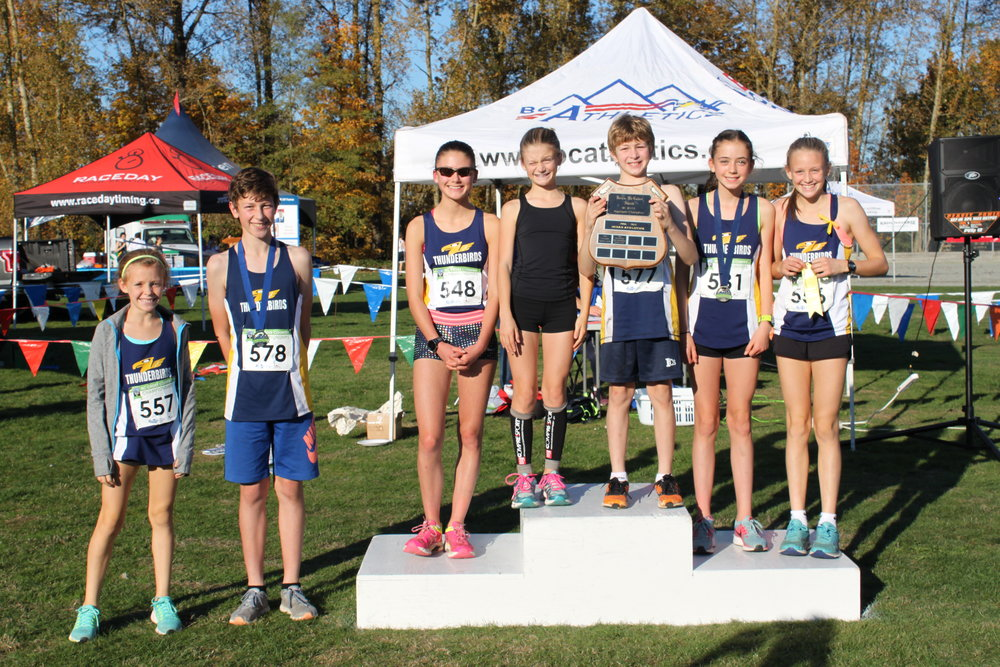 Junior Development Thunderbirds reclaim the team title at the BC Athletics 2017 XC Provincial Championships in Abbotsford, BC.