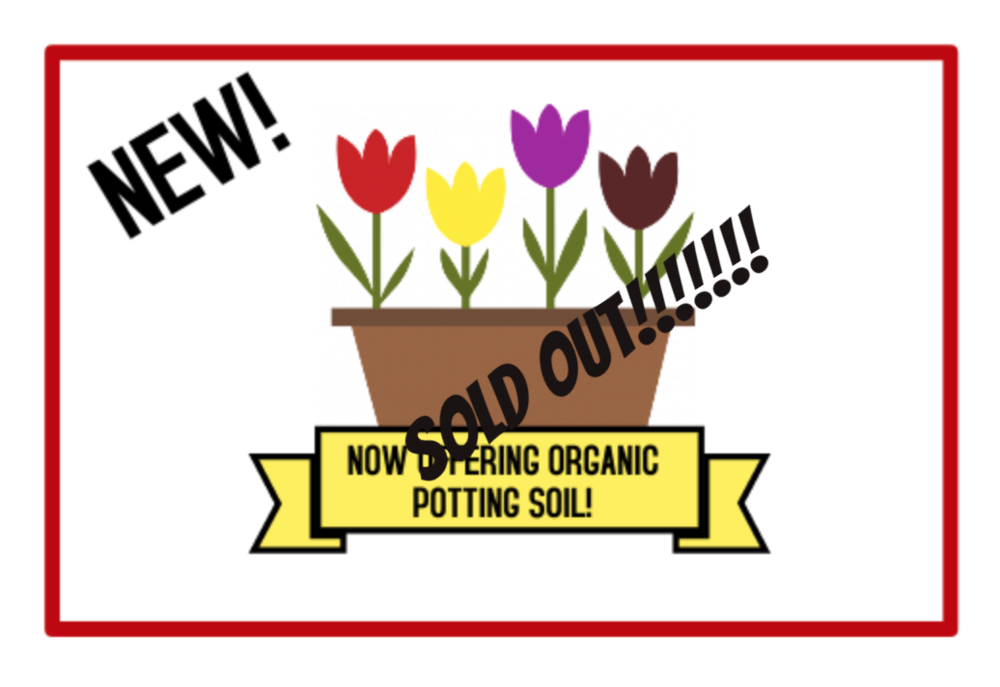 Answer Garden Organic Potting Soil - * Each bag is 40L (approximately 35lbs)* Complete planting formula composed of carefully selected, raw, 90-95% organic materials.* Organic base resists further decomposition or shrinkage and is free of weed seeds.* Offers a consistent blend for uniform growth on both indoor and outdoor plants.* Lightweight and easy to handle!* Minimum order: 3 bags. Orders selected less than the 3 bag minimum will be cancelled. Order early and save!!