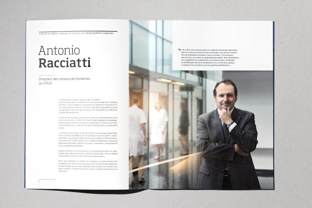 Antonio Racciatti, Directeur des ressources humaines du CHUV.