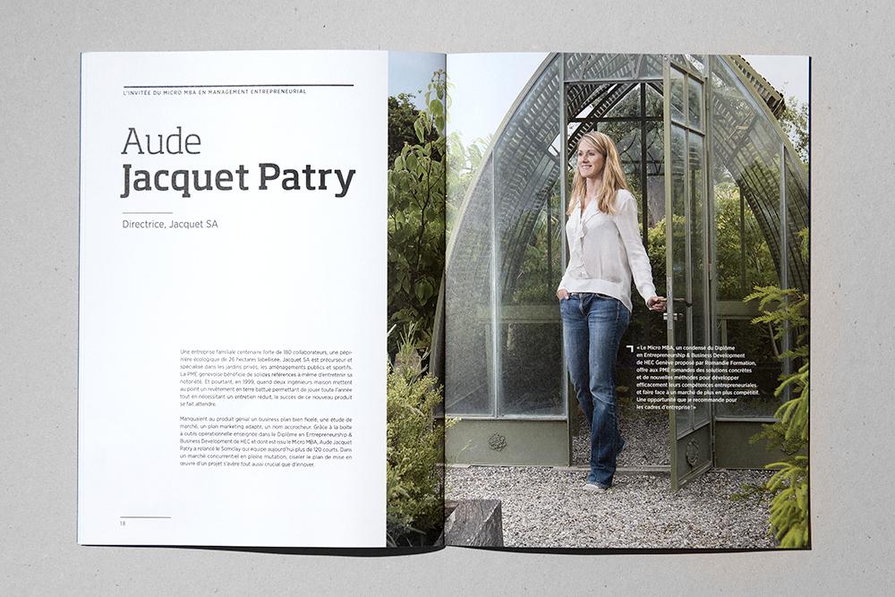 Aude Jacquet Patry, Directrice Jacquet SA