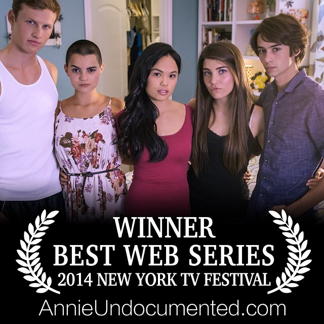 "Congrats to our awesome cast and crew on the win for ""Best Short-Form Web Series"" at the New York Television Festival! #NYTVF #AnnieUndocumented"