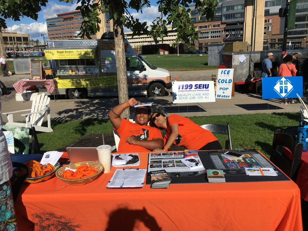 Tabling at Canalside