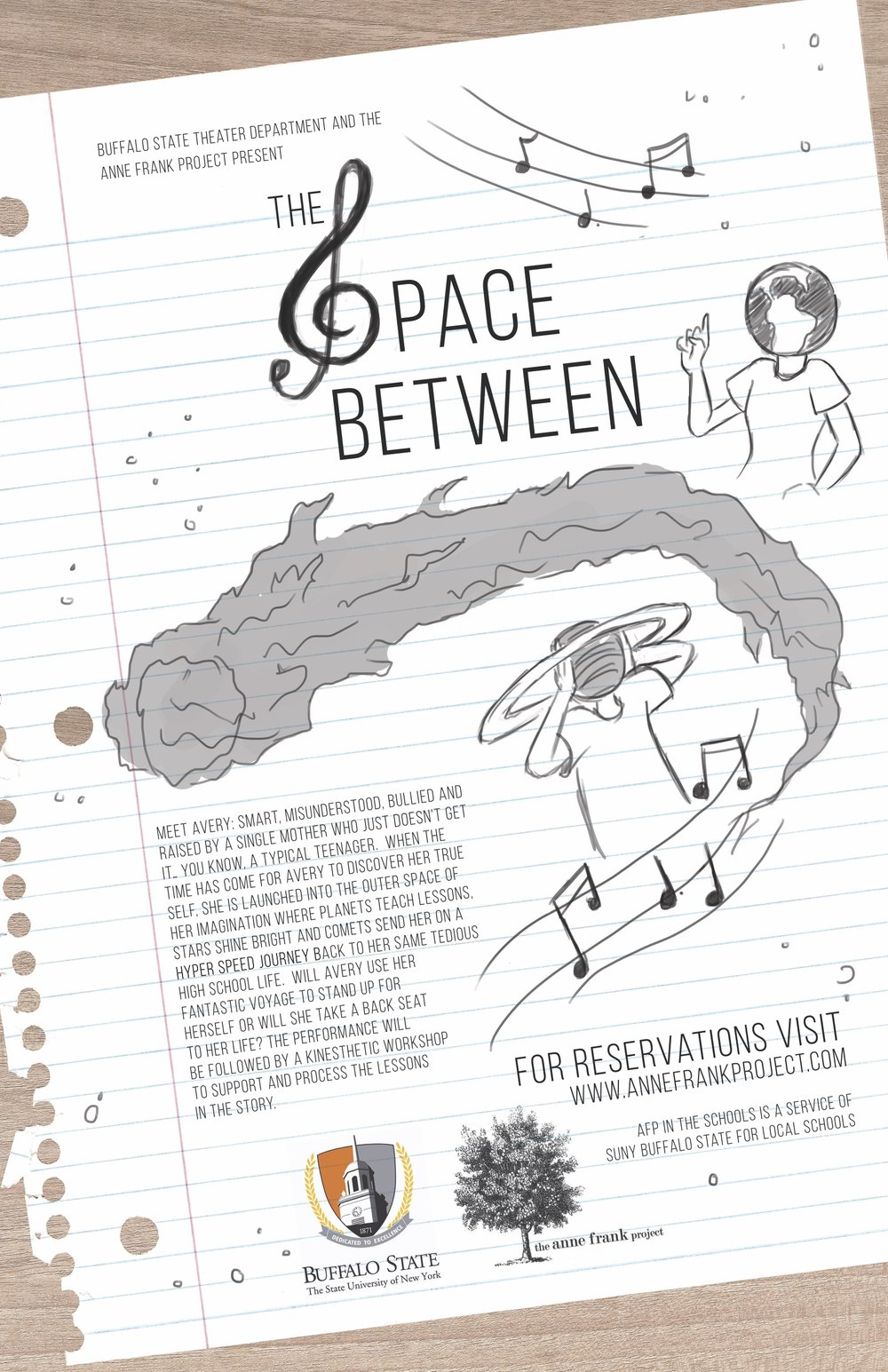 space between poster