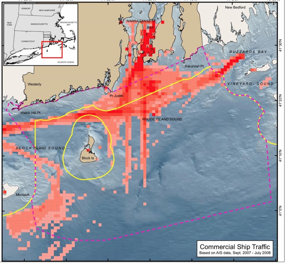 Ship Traffic Map.Charts Maps Rhode Island Marine Animal Patrol
