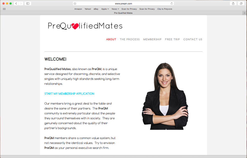 Copy of Pre-Qualified Mates / Dating Service