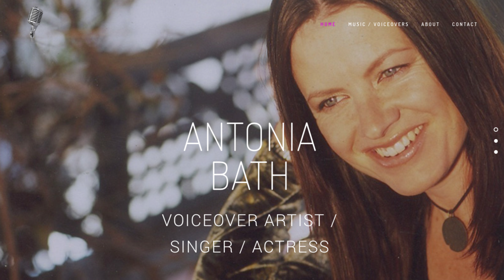 Copy of Copy of Antonia Bath / Voiceover