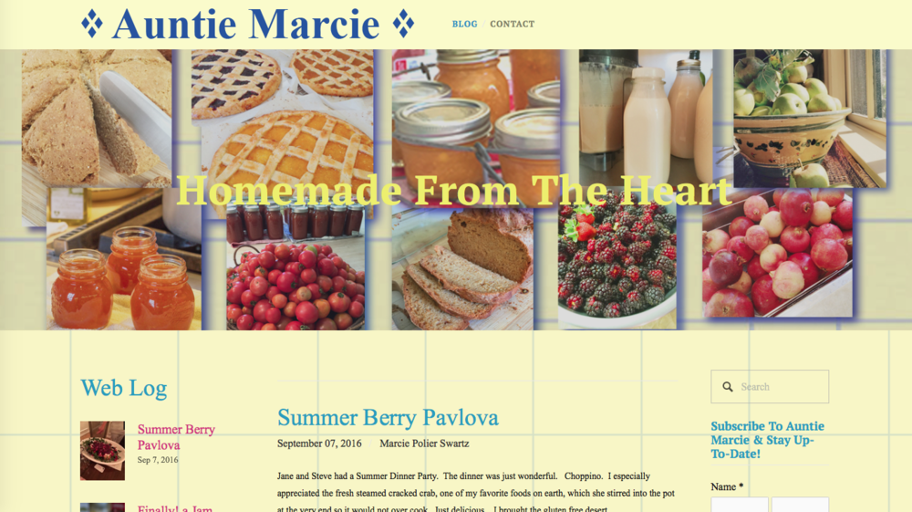 Copy of Copy of Auntie Marcie / Cooking Blog