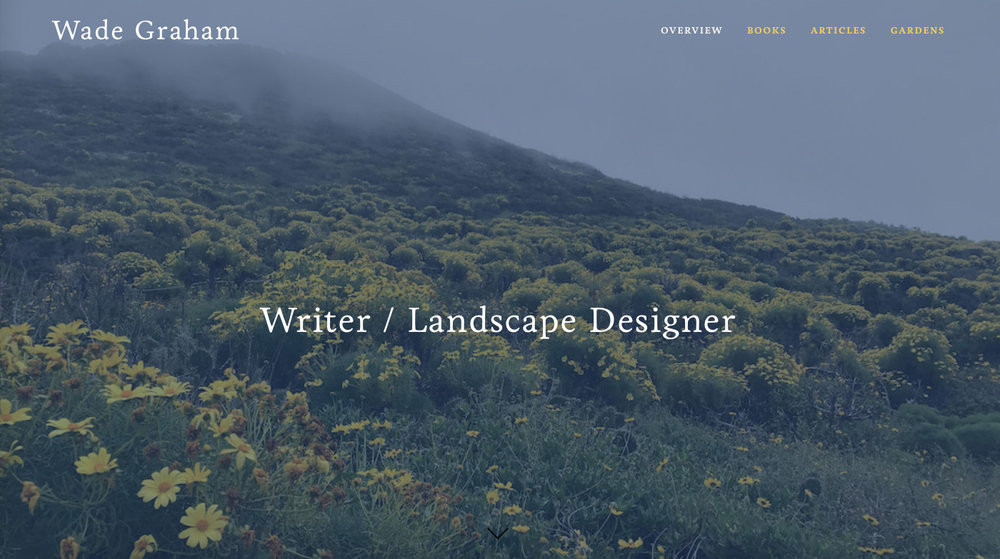 Copy of Wade Graham - Writer / Landscape Designer