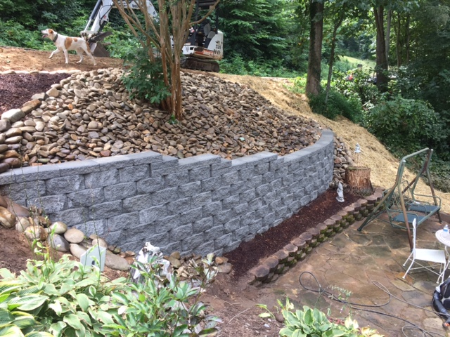 hardscapes retainer wall