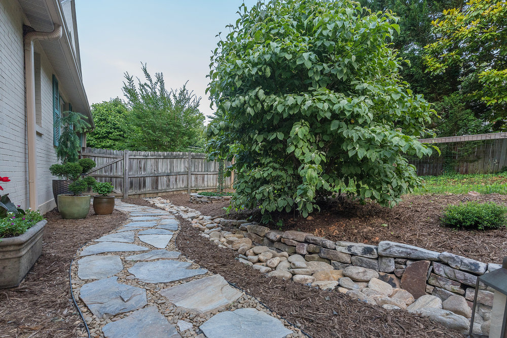 paver walkway and retaining wall