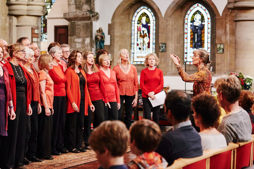 Castle Hill Open Day 2014: ReSound choir at St Giles' church